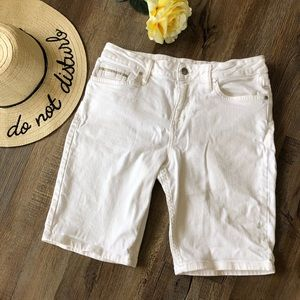 Calvin Klein Jeans white Bermuda shorts